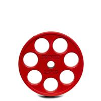 IVANKO ROEZH Rubber Encased E-Z Lift Olympic Plates - 25KG Red