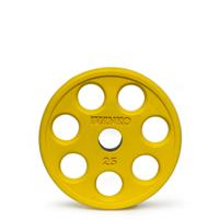 IVANKO ROEZH Rubber Encased E-Z Lift Olympic Plates - 15KG Yellow