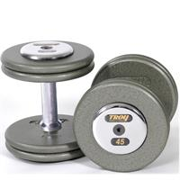 Troy Pro Style Gray Dumbbells with Chrome End Caps