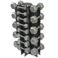 Troy USA Sports Iron Hex Dumbbell Set - 3 to 50LB with Rack