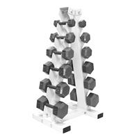 Troy USA Sports Iron Hex Dumbbell Set - 5 to 30LB with Rack