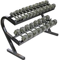 Troy USA Sports Iron Hex Dumbbell Set - 5 to 50LB with Rack