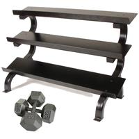 Troy USA Sports Iron Hex Dumbbell Set - 5 to 75LB with Rack
