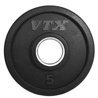 Troy VTX GO-VR Rubber Encased Olympic Grip Plates - 5LB