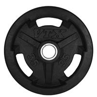 Troy VTX GO-VR Rubber Encased Olympic Grip Plates - 35LB