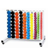 York Vinyl Fitbells Club Pack with Rack