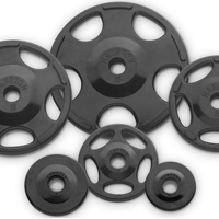 Hampton Fitness Rubber Encased Olympic Grip Plates