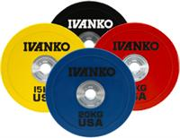 IVANKO OBPX Color and Black Olympic Bumper Plates