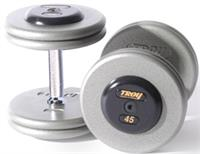 Troy Pro Style Gray Dumbbells with Black End Caps Sets & Pairs