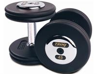 Troy Pro Style Black Dumbbells with Chrome End Caps