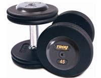 Troy Pro Style Black Dumbbells with Black End Caps