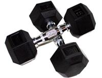 Troy USA Sports 6 Sided Rubber Encased Dumbbells