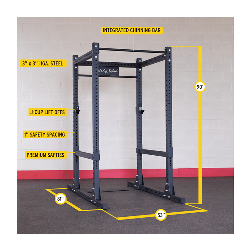 Body Solid Spr1000p2 Commercial Power Rack Plus Bench