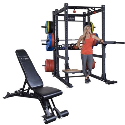 Body-Solid SPR1000BackP5 Commercial Extended Power Rack Package