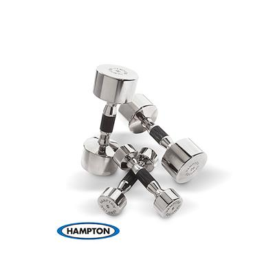 Hampton Fitness Chrome Beauty Grip Dumbbells