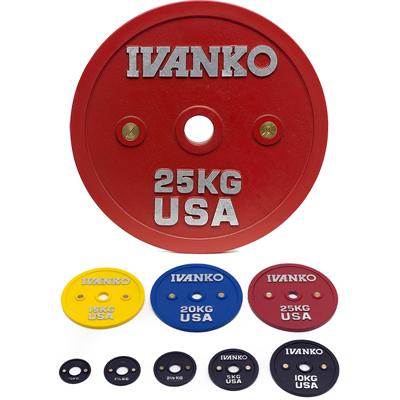 IVANKO CBPP Calibrated Olympic Powerlifting Plate Set