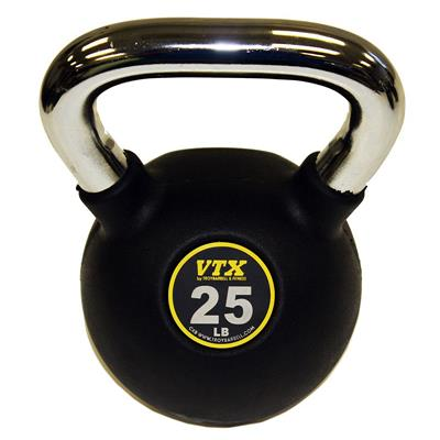 Troy VTX Club Kettlebell Commercial Grade Rubber Encased - 25LB