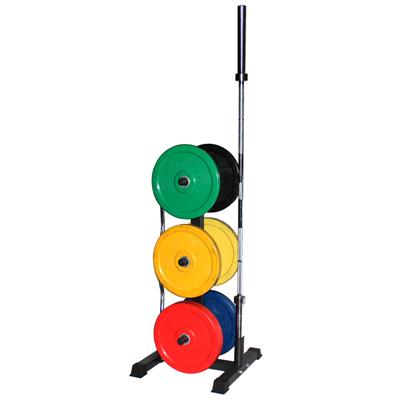 Troy VTX Vertical Olympic Bumper Plate and Bar Rack
