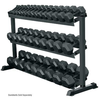 York 3 Tier Pro Hex Dumbbell Rack