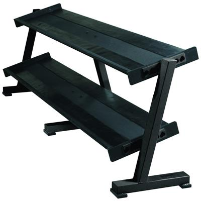 York Professional Hex Tray Dumbbell Rack 2 Tier
