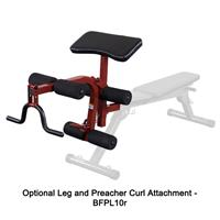 Best Fitness Leg and Preacher Curl Attachment BFPL10r Option