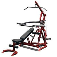 Body-Solid GLGS100P4 Corner Leverage Gym with Bench