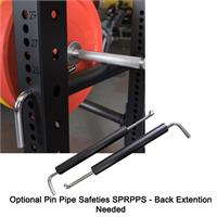 Body-Solid Half Rack Pin Pipe Safeties SPRPS Option