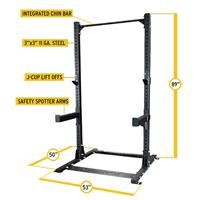 Body-Solid SPR500 Commercial Half Rack Specs