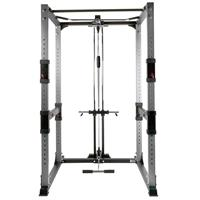 BodyCraft F430 Power Rack Shown with Lat Option