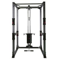 BodyCraft F430 Power Rack Shown w/ Lat Option/Weight Stack