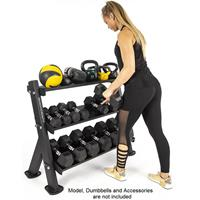 BodyCraft F530 3-Tier Dumbbell / Accessory Rack