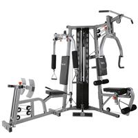 BodyCraft Galena Pro Strength Training System Shown with Leg Press Option