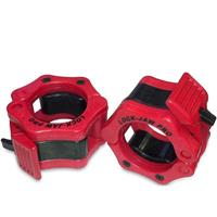 Lock-Jaw Pro Barbell Olympic Collar - Red