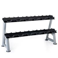 Hampton Fitness 2T-SDL-6 Two Tier Dumbbell Saddle Rack