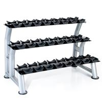 Hampton Fitness 3T-CD-12 Chrome Dumbbell Saddle Rack