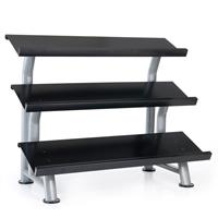 Hampton Fitness 3T-FLT Three Tier Dumbbell Flat Rack
