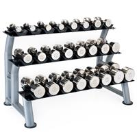 Hampton Fitness Chrome Beauty Grip Dumbbell Club Pack