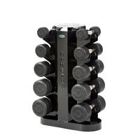 Hampton Fitness Dura-Pro Urethane Dumbbell Club Pack - 5 to 25LB