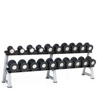 Hampton Fitness Gel-Grip Urethane Dumbbell Club Pack - 5 to 50LB with Rack