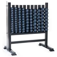 Hampton Fitness Neo-Hex Aerobic Dumbbell Club Pack with Rack