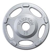 Hampton Fitness Iron Olympic Grip Plates - 25LB