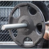 Hampton Fitness Outdoor Urethane Encased Olympic Grip Plates