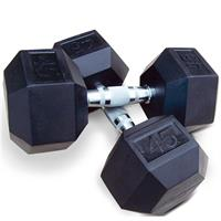 InTek Strength Rubber Hexagon Dumbbells