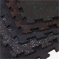 SuperLock Room Kit Rubber Gym Flooring Black with Color Fleck