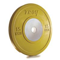 Troy Competition Bumper Plates - 15KG - (1 pair)