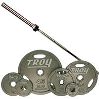 Troy Machined Interlocking Olympic Grip Weight Set