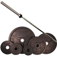 Troy Premium Wide Flanged Olympic Weight Set