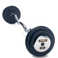 Troy Pro Style Black Curl Bar Chrome End Cap