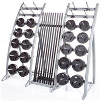 Troy TLS-PAC Workout Strength Training Club Pack - Black Plates