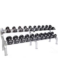 Troy Urethane 12 Sided Dumbbell Set with Rack - 5 to 50LB - DR10